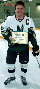 Darrin Craig from the Edmonton NE Northstars - recipient of a Charles S. Noble Scholarship