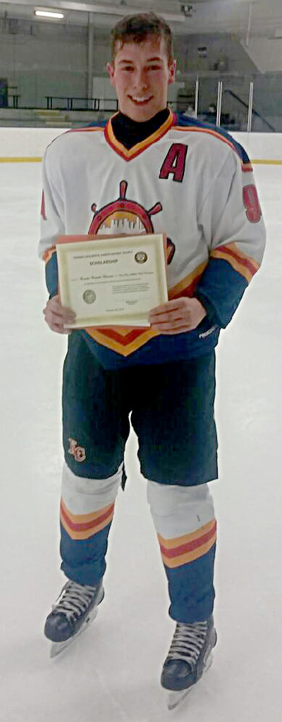 Brendan Bennett-Chevarie recipient of a Friends of Alberta Junior Hockey Society Scholarship.